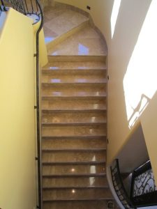 Travertine Stairs Cleaned & Polished   Staircases & Steps   Interior Photo Galleries   Baker's Travertine Power Clean