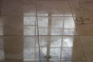 Coating on Travertine – Bad! | Travertine Coating | Photo Gallery | Travertine | Baker's Travertine Power Clean