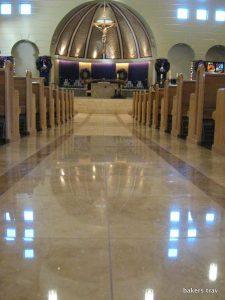 Busy Tempe Church Travertine Main Aisle