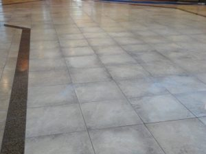 Before: Travertine in Phoenix Commercial Lobby