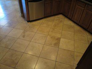Before: Travertine in Mesa   Light Polish   Travertine   Baker's Travertine Power Clean